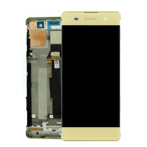 Genuine Sony Xperia X Lcd Screen with Digi and Frame Lime Gold