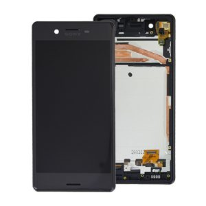 Genuine Sony Xperia X Lcd Screen with Digitizer and Frame Black