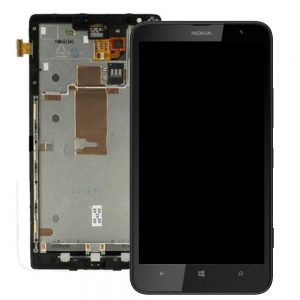 Genuine Nokia Lumia 1320 Lcd with Digitizer Touch Screen and Frame Black