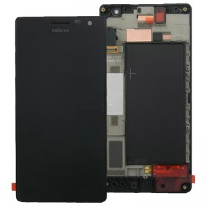 Nokia Lumia 730 735 Lcd Screen with Digitizer Touch Screen and Frame Black