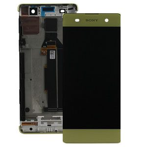 Genuine Sony Xperia XA F3111 Lcd Screen with Digitizer and Frame Lime Gold