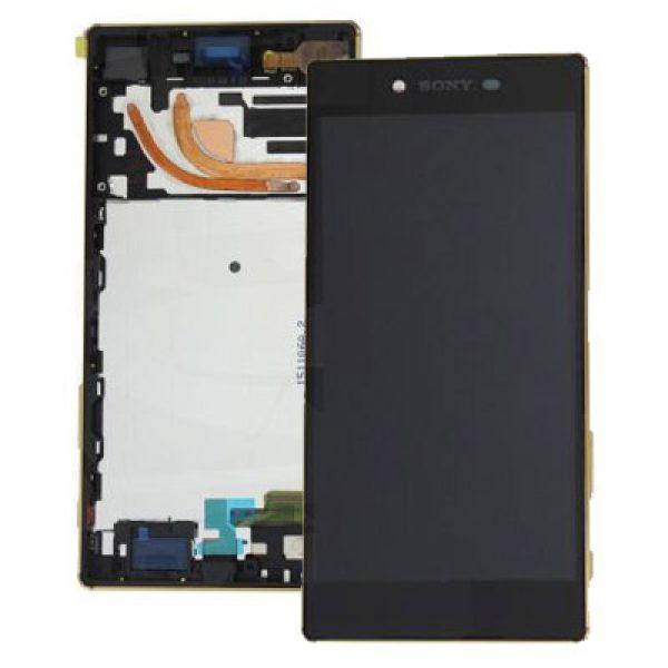 Sony Xperia Z5 Premium E6853 Lcd Digitizer With Frame Black