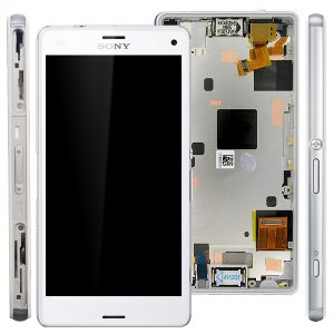 Sony Xperia Z3 Compact Z3 Mini D5803 D5833 Complete Lcd Screen with Digitizer and Frame White