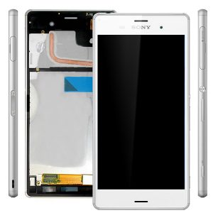 Genuine Sony Xperia Z3 D6603 Complete Lcd Screen with Digitizer and Frame White
