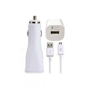 Genuine Samsung Fast Car Charger Head 2A with Genuine Samsung Micro USB Data Cable White