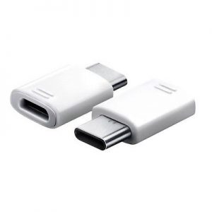 Genuine Samsung Galaxy S8 Type C To USB Adapter White EE-GN930