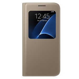 Official Samsung Galaxy S7 S-View Gold Cover