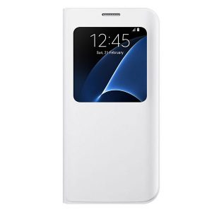 Official Samsung Galaxy S7 Edge S-View Cover White