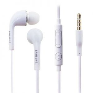 Genuine Samsung Galaxy S5 S6 Flat Cable Design Earphone Earbud Headset White