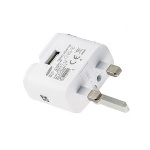 Genuine Samsung S7 S7 Edge UK Mains Charger 2A Head Only White