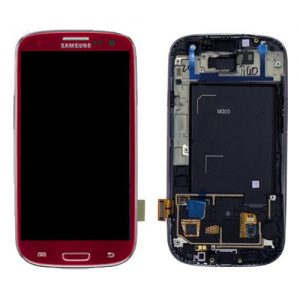 Genuine Samsung Galaxy S3 i9300 SuperAmoled Lcd Screen Digitizer Garnet Red