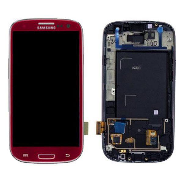 Genuine Samsung Galaxy S3 i9300 SuperAmoled Lcd Screen Digitizer Garnet Red