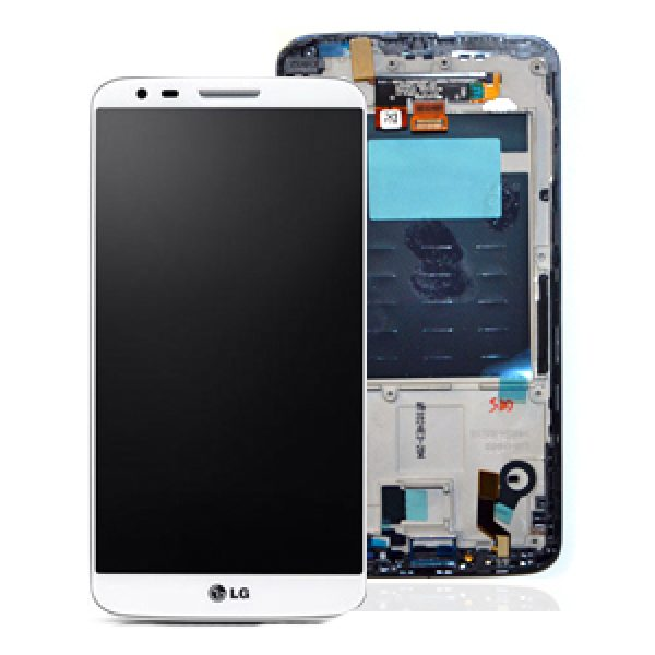 Genuine LG G2 D802 Complete Lcd Screen with Digitizer and Frame White