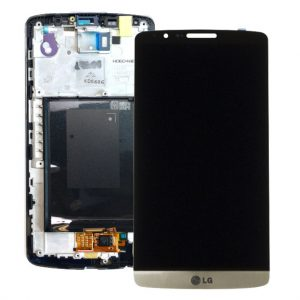 Genuine LG G3 D850 D855 Lcd Screen with Digitizer and Frame Gold