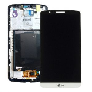 Genuine LG G3 D850 D855 Lcd Screen with Digitizer and Frame White