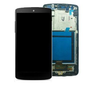 Genuine LG Google Nexus 5 D820 Complete Lcd Screen with Digitizer and Frame White