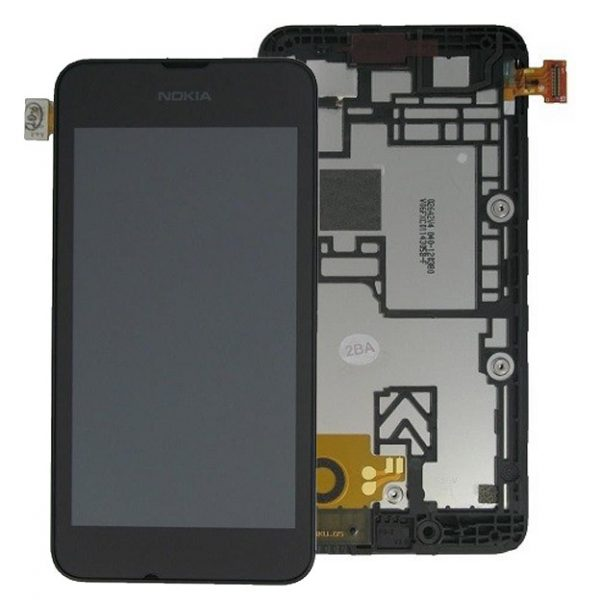 Genuine Nokia Lumia 530 Lcd Screen with Digitizer and Frame Black