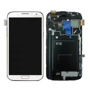 Genuine Samsung Galaxy Note2 GT-N7100 Complete SuperAmoled Lcd Screen Digitizer White