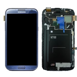 SAMSUNG Galaxy Note2 N7100 Complete Genuine Lcd Screen Digitizer GH97-14112E - Blue