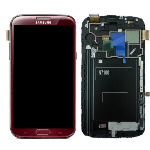SAMSUNG Galaxy Note2 N7100 Complete Genuine Lcd Screen Digitizer GH97-14112D - Ruby Wine (Deep Purple)