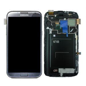 Genuine Samsung Galaxy Note2 N7100 Complete SuperAmoled Lcd Screen Digitizer Titanium Grey