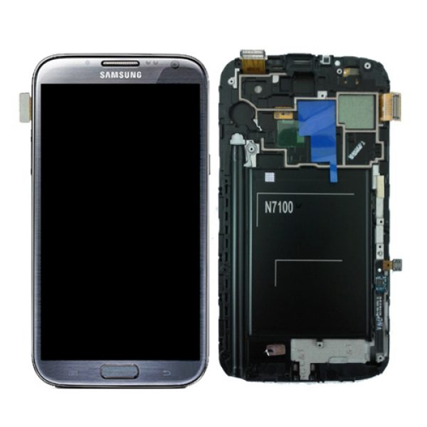 Genuine Samsung Galaxy Note2 N7100 Complete SuperAmoled Lcd Screen Digitizer Titanium Grey
