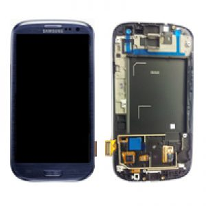 Genuine Samsung Galaxy S3 i9300 Complete SuperAmoled Lcd Screen Digitizer Pebble Blue Fully Refurbished