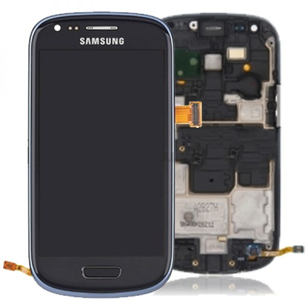 Genuine Samsung Galaxy S3 Mini i8190 Complete SuperAmoled Screen Digitizer Titanium Grey