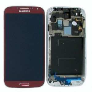 Genuine Samsung Galaxy S4 LTE i9505 SuperAmoled Lcd Screen Digitizer Red