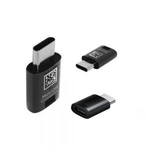 Genuine Samsung Galaxy S8 USB Type C To Micro USB Adapter Black
