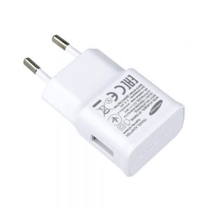 Genuine Samsung Galaxy SM-A500 1.5A 2Pin EU Mains Plug White EP-TA50EWE