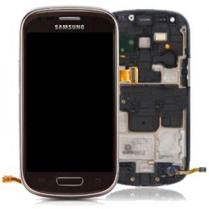Genuine Samsung Galaxy S3 Mini i8190 Complete SuperAmoled Screen Digitizer Amber Brown