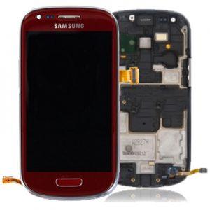 Genuine Samsung Galaxy S3 Mini i8190 Complete SuperAmoled Screen Digitizer Red