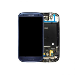 SAMSUNG Galaxy S3 LTE I9305 Complete Genuine Blue SuperAmoled Screen with Digitizer - GH97-14106D