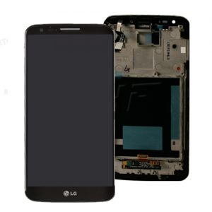 LG G2 D802 Complete Genuine Lcd Screen with Digitizer and Frame Black