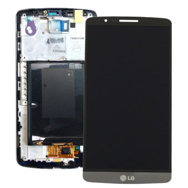 Genuine LG G3 D850 D855 Lcd Screen with Digitizer and Frame Black