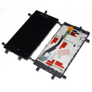 Genuine Nokia Lumia 720 Lcd Sreen with Digitizer Touch Screen and Frame Black