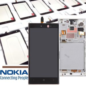 Genuine Nokia Lumia 830 Lcd Screen with Digitizer and Frame Grey
