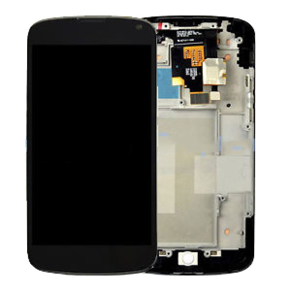 Genuine LG E960 Nexus 4 Lcd Screen with Touch Screen Digitizer and Frame Black