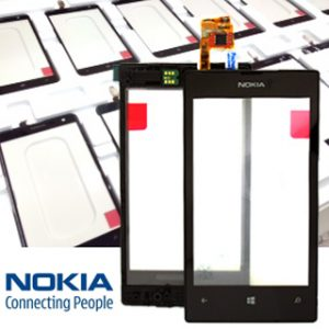 Genuine Nokia Lumia 520 Touch Screen Digitizer with Frame Black