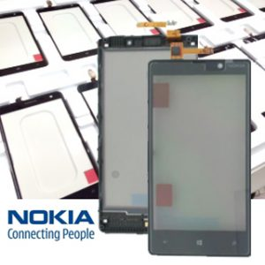 Genuine Nokia Lumia 820 Touch Screen Digitizer with Frame Black