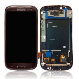 Genuine Samsung Galaxy S3 LTE I9305 Complete SuperAmoled Screen Digitizer Brown