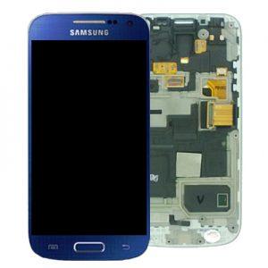 Genuine Samsung Galaxy S4 Mini i9195 Complete SuperAmoled Lcd Screen Digitizer Blue
