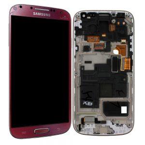 Genuine Samsung Galaxy S4 Mini i9195 SuperAmoled Lcd Screen Digitizer Red La Fleur