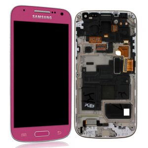 Genuine Samsung Galaxy S4 Mini i9195 SuperAmoled Lcd Screen Digitizer Pink