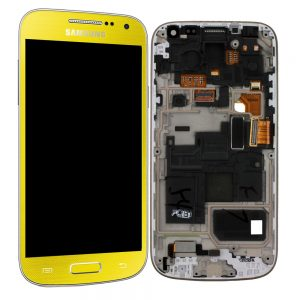 Genuine Samsung Galaxy S4 Mini i9195 SuperAmoled Lcd Screen Digitizer Yellow