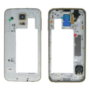 Samsung Galaxy S5 G901F G900F G900 Middle Frame with Parts Gold