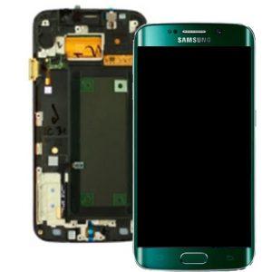 Genuine Samsung Galaxy S6 Edge SMG925F SuperAmoled Lcd Screen Digitizer Frame Green