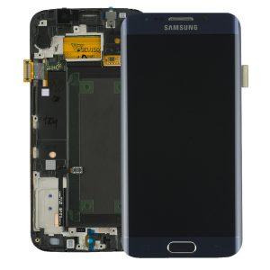 Genuine Samsung Galaxy S6 Edge SMG925F SuperAmoled Lcd Screen Digitizer Frame Black