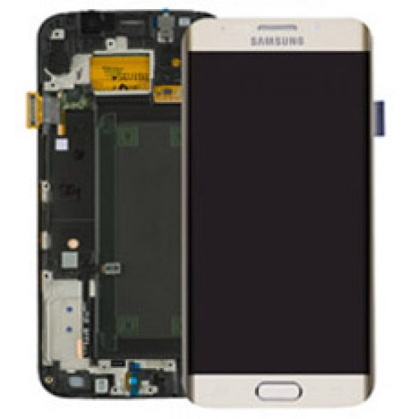 Genuine Samsung Galaxy S6 Edge SMG925F SuperAmoled Lcd Screen Digitizer Frame Gold